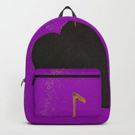 St Valentine Black Heart Backpack