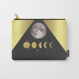 Elegant Abstract Gold Moon Phases Carry-All Pouch