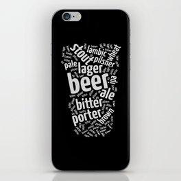 Beer Glass Word iPhone Skin