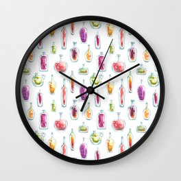 Watercolor Bottles Wall Clock