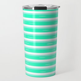 Mint stripes Travel Mug