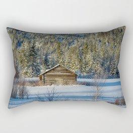 Winter Barn Rectangular Pillow