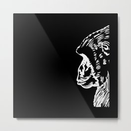 Monkey Silhouette Gift Idea Design Motif Metal Print