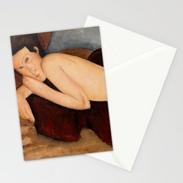 """Amedeo Modigliani """"Reclining Nude from the Back (Nu couché de dos)"""" Stationery Cards"""