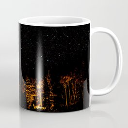 Campfire on a Starry Night Coffee Mug