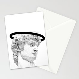 Profile of David statue by Miguel Angel (aura) Stationery Cards