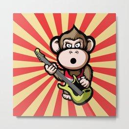 Ape Guitar Metal Print