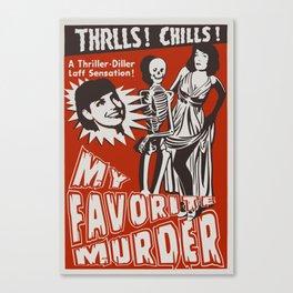 THRLLS AND CHILLS Canvas Print