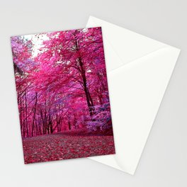 purple forest IV Stationery Cards