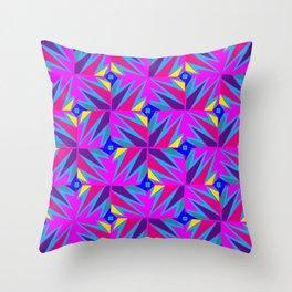 Retro Rosemary Pink Throw Pillow