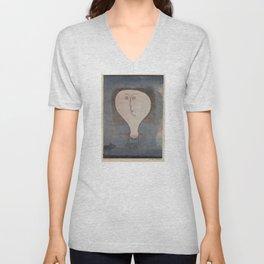 Paul Klee - Fright of a Girl Unisex V-Neck