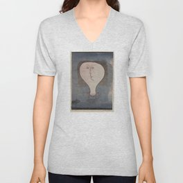 Paul Klee - Fright of a Girl Unisex V-Neck