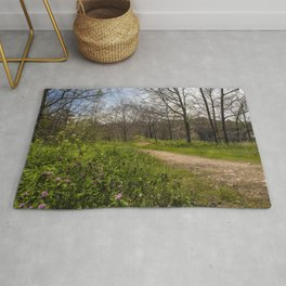 Troubled summer woods Rug