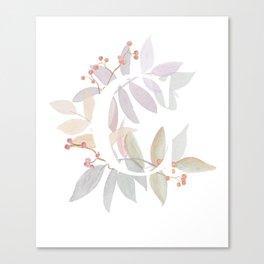 Rustic Floral Watercolor Monogram - Letter C Initial Canvas Print