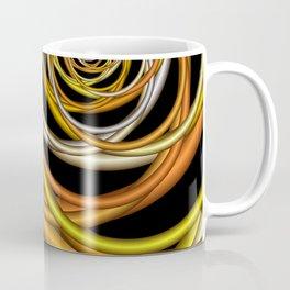 yellow and orange on black Coffee Mug
