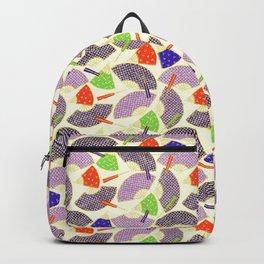 vintage oriental fans pattern Backpack