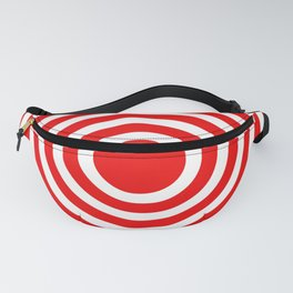 Red Spiral Pattern Fanny Pack