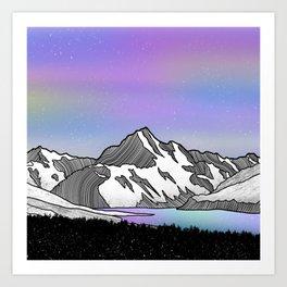 Aoraki Mount Cook Art Print