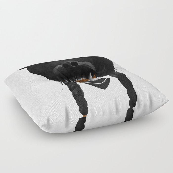 Bear Warrior Floor Pillow