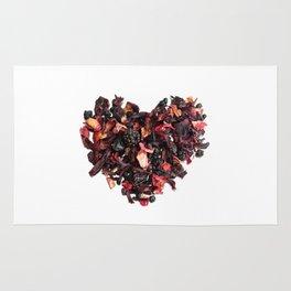 petals tea formed in heart shape Rug