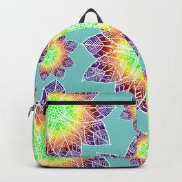 Boho Mandala Flowers Backpack