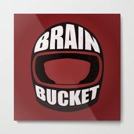Brain bucket Metal Print