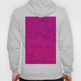 Bright Neon Hot Pink Fuchsia Brick Wall Hoody