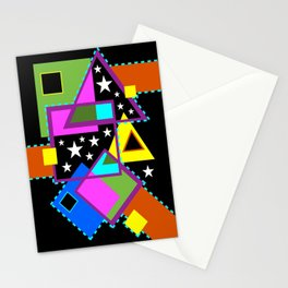 Overlaps With Stars Stationery Cards
