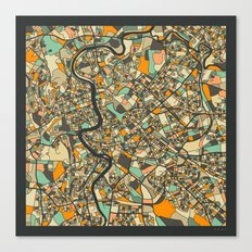 ROME MAP Canvas Print