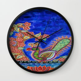 The One Under The Blue Shade Wall Clock