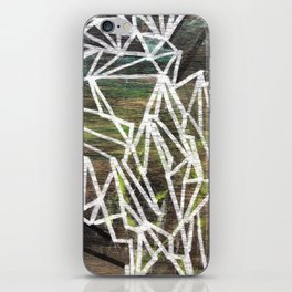 Geometric Lines on Wood iPhone Skin