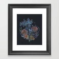 Pigeon lullaby Framed Art Print