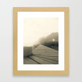 A Foggy Morning on Albemarle Sound Framed Art Print