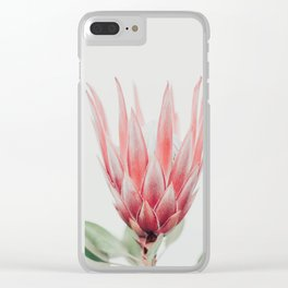 King Protea flower Clear iPhone Case