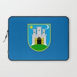 Flag of Zagreb Laptop Sleeve