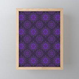 Violet Flower, rustic floral pattern, ultra-violet Framed Mini Art Print