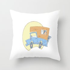 Go Exploring Throw Pillow