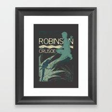 Books Collection: Robinson Crusoe Framed Art Print