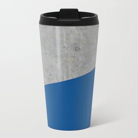 Concrete and lapis blue color Metal Travel Mug