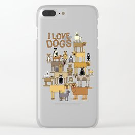 I Love Dogs Clear iPhone Case
