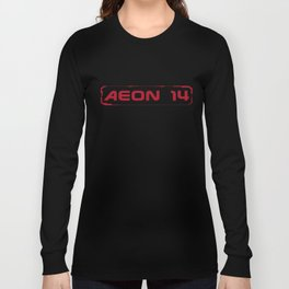 Aeon 14 Logo Only - RED Long Sleeve T-shirt