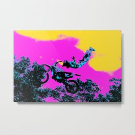 Letting Go - Freestyle Motocross Stunt Metal Print
