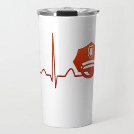 POLICE OFFICER HEARTBEAT Travel Mug