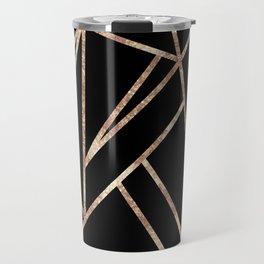 Classic Black Rose Gold Geo #1 #geometric #decor #art #society6 Travel Mug