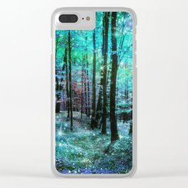 Fantasy Forest Clear iPhone Case