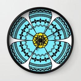 Hippie Geometric Flower Wall Clock