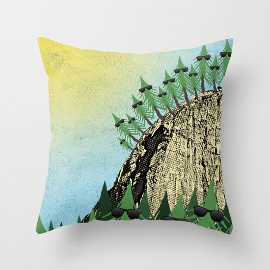 Sunning Trees Print Throw Pillow