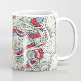 Vintage Map of the Mississippi River Coffee Mug