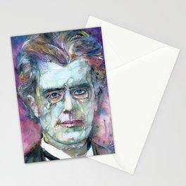 GUSTAV MAHLER - watercolor portrait.4 Stationery Cards