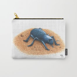 Blue Death Feigning Beetle Carry-All Pouch